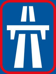 Traffic sign of South Africa: Begin of a motorway