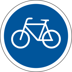 Traffic sign of South Africa: Mandatory path for cyclists