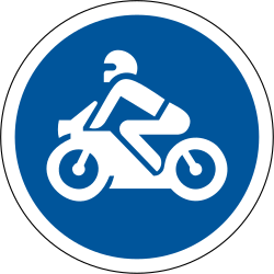 Traffic sign of South Africa: Mandatory path for motorcycles