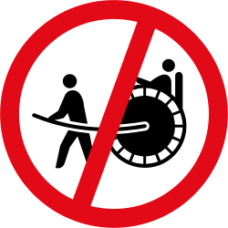 Traffic sign of South Africa: Rickshaws prohibited