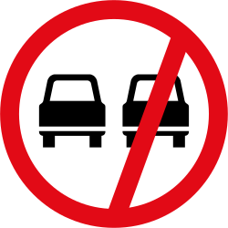 Traffic sign of South Africa: Overtaking prohibited