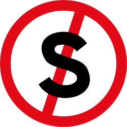 Traffic sign of South Africa: Parking and stopping prohibited