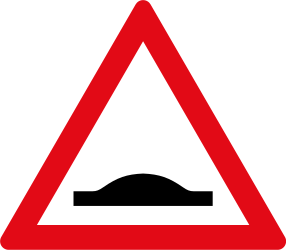 Traffic sign of South Africa: Warning for a speed bump