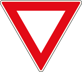 Traffic sign of South Africa: Give way to all drivers