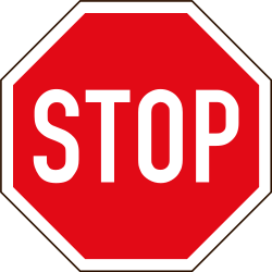 Traffic sign of South Africa: Stop and give way to all drivers