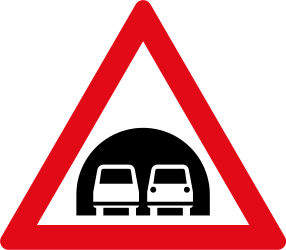 Traffic sign of South Africa: Warning for a tunnel