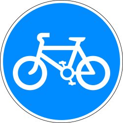Traffic sign of Bangladesh: Mandatory path for cyclists