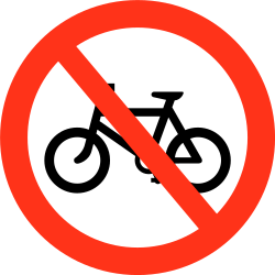Traffic sign of Bangladesh: Cyclists prohibited