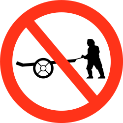 Traffic sign of Bangladesh: Handcarts prohibited