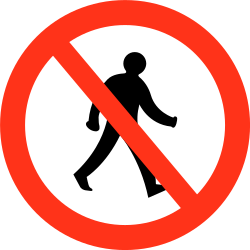 Traffic sign of Bangladesh: Pedestrians prohibited