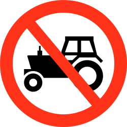 Traffic sign of Bangladesh: Tractors prohibited