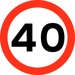 Traffic sign of Bangladesh: Begin of a speed limit