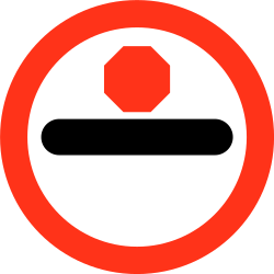 Traffic sign of Bangladesh: Entry prohibited (checkpoint)