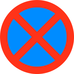 Traffic sign of Bangladesh: Parking and stopping prohibited