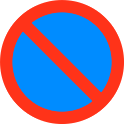 Traffic sign of Bangladesh: <a href='/en/bangladesh/overview/parking'>Parking</a> prohibited