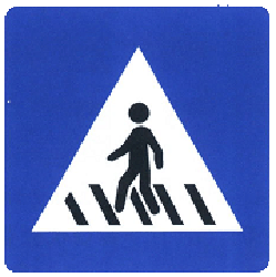 Traffic sign of China: Crossing for pedestrians