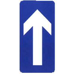 Traffic sign of China: Road with one-way traffic