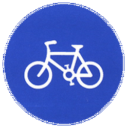 Traffic sign of China: Mandatory path for cyclists