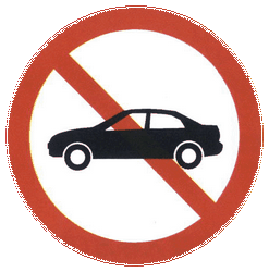 Traffic sign of China: Cars prohibited