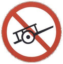 Traffic sign of China: Handcarts prohibited