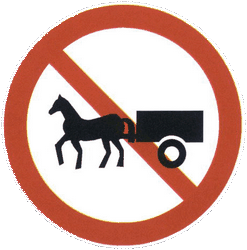 Traffic sign of China: Horsecarts prohibited