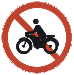Traffic sign of China: Motorcycles prohibited
