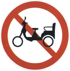 Traffic sign of China: Rickshaws prohibited