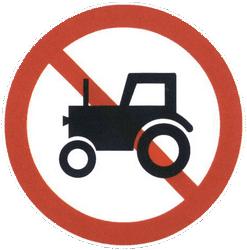 Traffic sign of China: Tractors prohibited