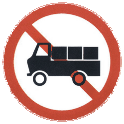 Traffic sign of China: Trucks prohibited