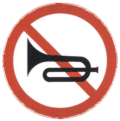 Traffic sign of China: Using the horn prohibited