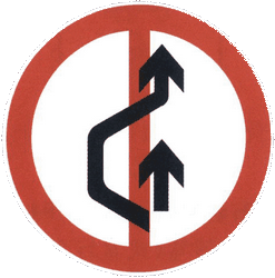 Traffic sign of China: Overtaking prohibited