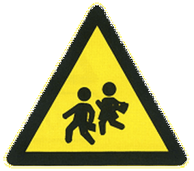 Traffic sign of China: Warning for children