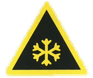 Traffic sign of China: Warning for snow and sleet