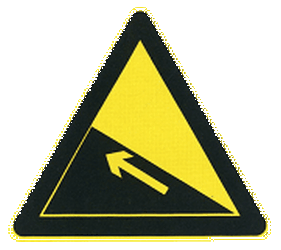 Traffic sign of China: Warning for a steep ascent