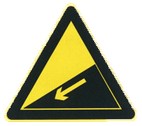 Traffic sign of China: Warning for a steep descent