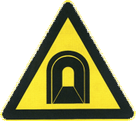 Traffic sign of China: Warning for a tunnel