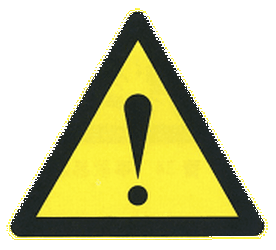 Traffic sign of China: Warning for a danger with no specific traffic sign