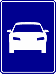 Traffic sign of Indonesia: Begin of an expressway