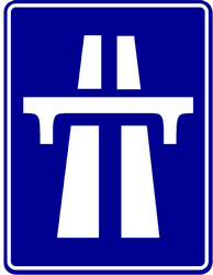 Traffic sign of Indonesia: Begin of a motorway