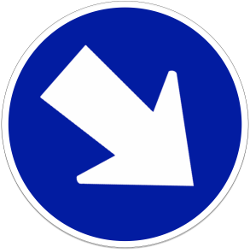 Traffic sign of Indonesia: Passing right mandatory