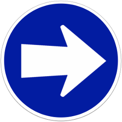 Traffic sign of Indonesia: Mandatory right