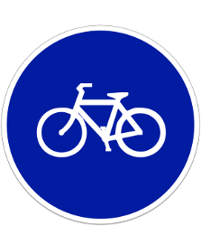 Traffic sign of Indonesia: Mandatory path for cyclists