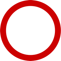 Traffic sign of Indonesia: Entry prohibited