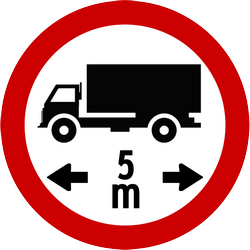 Traffic sign of Indonesia: Vehicles longer than indicated prohibited