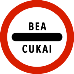 Traffic sign of Indonesia: Entry prohibited (checkpoint)