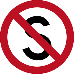 Traffic sign of Indonesia: Parking and stopping prohibited