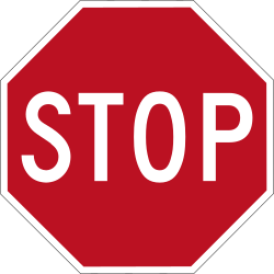 Traffic sign of Indonesia: Stop and give way to all drivers