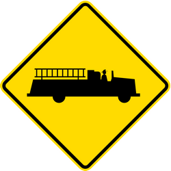 Traffic sign of Indonesia: Warning for emergency vehicles