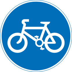 Traffic sign of India: Mandatory path for cyclists