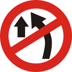 Traffic sign of India: Overtaking prohibited
